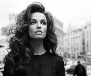 hair, model, and black and white image