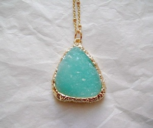 gold, green, and jewelry image
