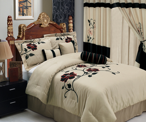 artistic, comforter, and bedrom image