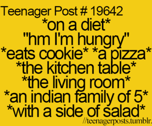 diet, teenager post, and hungry image