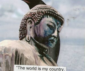 Buddha, background, and quote image