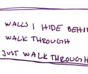 Lyrics, the xx, and walls image