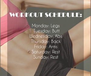 schedule, workout, and workoutschedule image