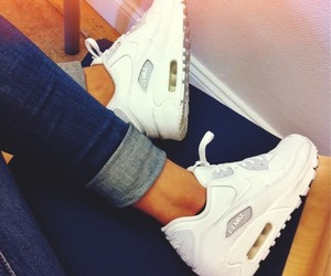 nike, white, and air max image