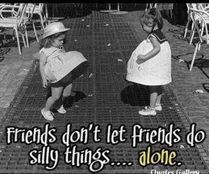 friends, silly, and alone image