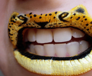 lips, tiger, and animal image