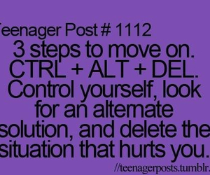 move on, quote, and teenager post image