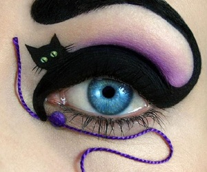 cat, eye, and makeup image