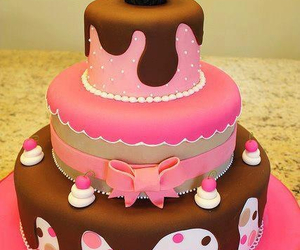 cake, pink, and food image
