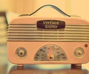 vintage, radio, and pink image