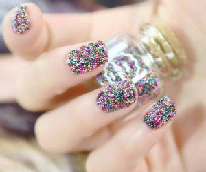 nails, pretty, and colors image