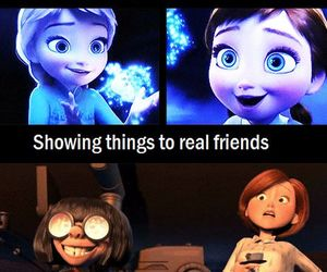 frozen, friends, and funny image