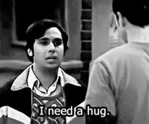 hug, the big bang theory, and sheldon image