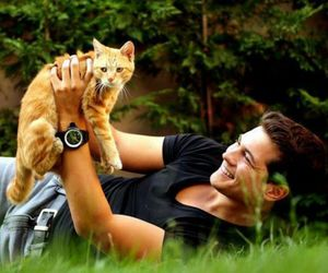 cagatay ulusoy, cat, and boy image