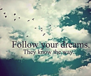 Dream, sky, and quote image