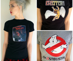 Ghostbusters, girl, and led zeppelin image