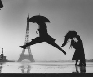 paris, rain, and umbrella image