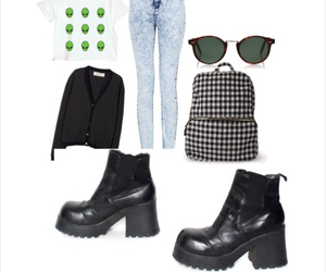 grunge, jeans, and chelsea boots image