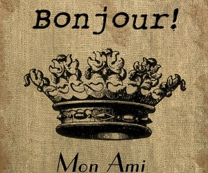 bonjour, francia, and crown image