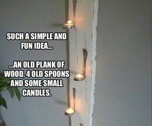 diy, candle, and spoon image