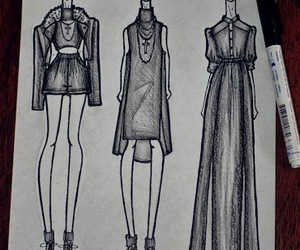 clothes, drawing, and dress image