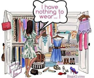 clothes, dress, and closet image