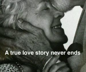 end, true, and love image
