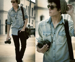boy, camera, and guy image
