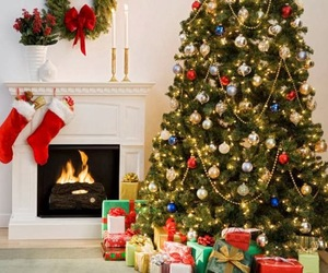 christmas, present, and tree image