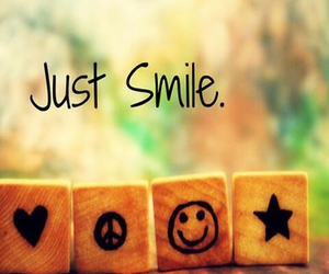 smile, peace, and star image