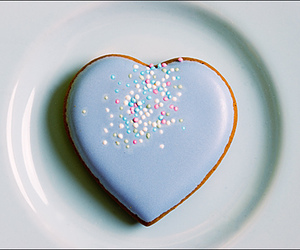 heart, cookie, and blue image