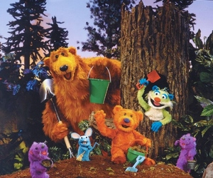bear, children, and forest image