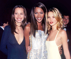 model, kate moss, and Naomi Campbell image