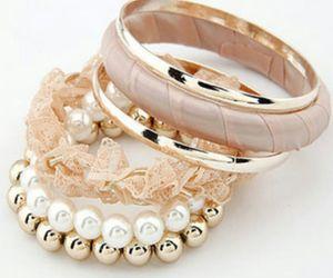 fashion pink pearl white image