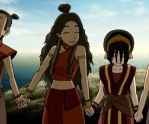 toph, aang, and sokka image