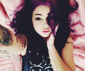 purple hair and plum suicide image