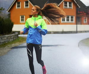 run, girl, and workout image