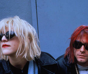 kurt cobain, Courtney Love, and grunge image
