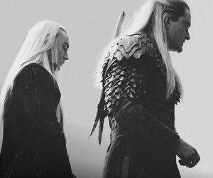 Legolas, the hobbit, and thranduil image