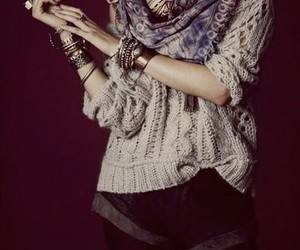 scarf, style, and sweater image