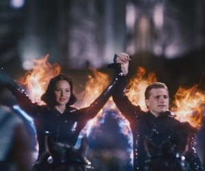 peeta mellark, katniss everdeen, and Jennifer Lawrence image