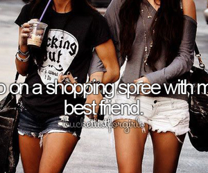 shopping, best friends, and friends image