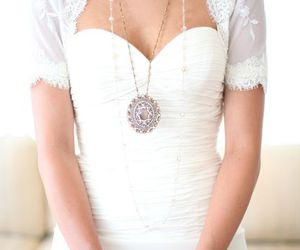 lace, vintage, and wedding dress image