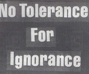 text, ignorance, and black and white image