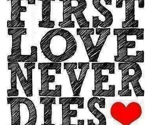 love, first, and quote image