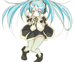 blue hair, hatsune miku, and twin tails image