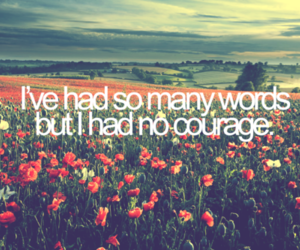 words, quote, and courage image