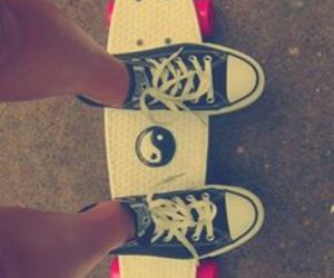 converse, skate, and penny board image