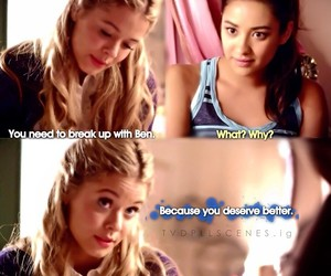 ali, emily, and pretty little liars image