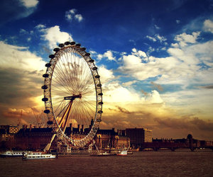london, sky, and photography image
